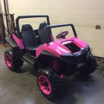 Custom Rzr, Peg Perego Rzr, Pink Rzr, Back 40 mechanical,
