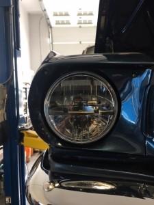 Mustang headlight after
